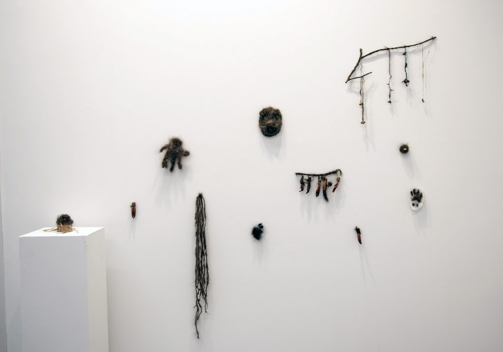 Holobionts 2019 (left wall) installation view.